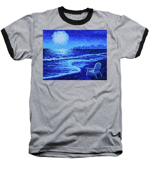 Moon Beach Baseball T-Shirt