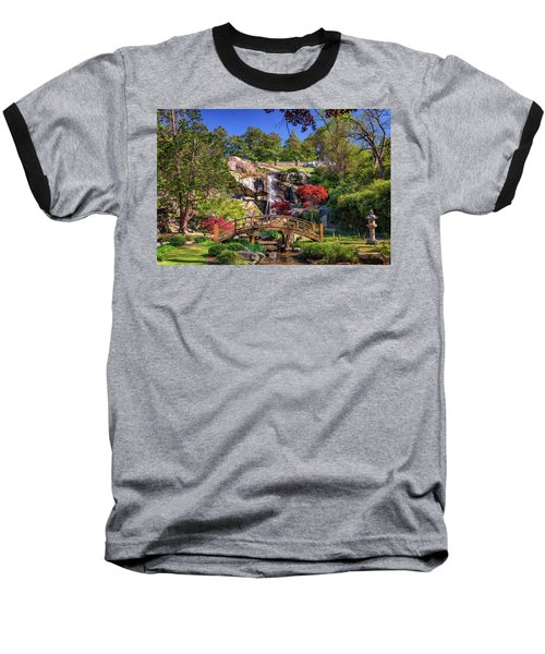 Moon Bridge And Maymont Falls Baseball T-Shirt
