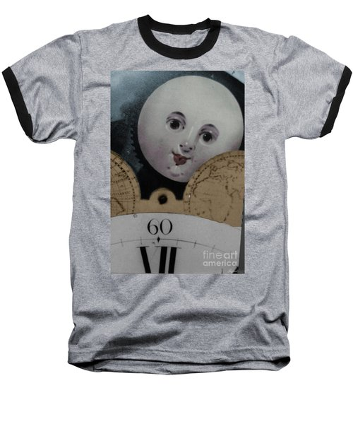 Moon Face Baseball T-Shirt