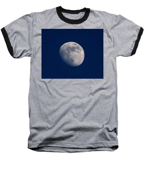Moon From Bow, Wa Baseball T-Shirt by Karen Molenaar Terrell