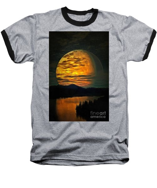 Moon In Ambiance Baseball T-Shirt