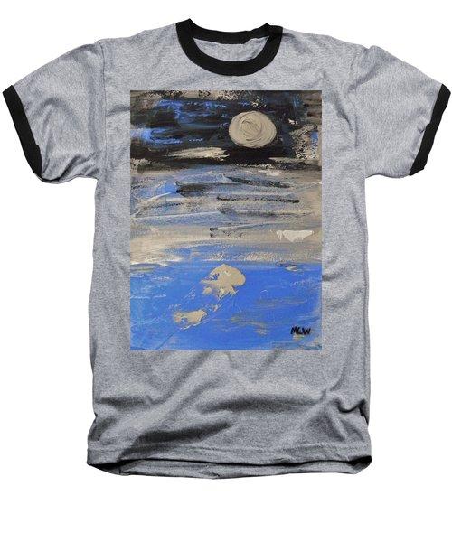 Moon In October Sky Baseball T-Shirt by Mary Carol Williams
