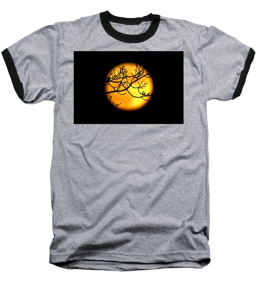 Moon In The Trees Baseball T-Shirt