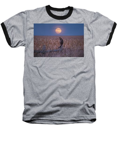 Moon Kitty  Baseball T-Shirt