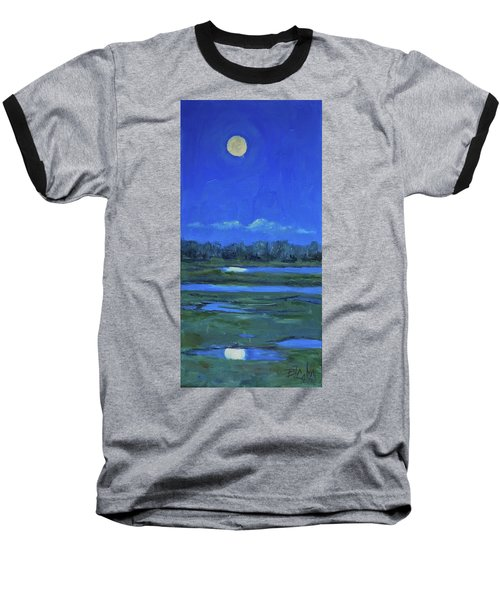 Baseball T-Shirt featuring the painting Moon Light And Mud Puddles by Billie Colson