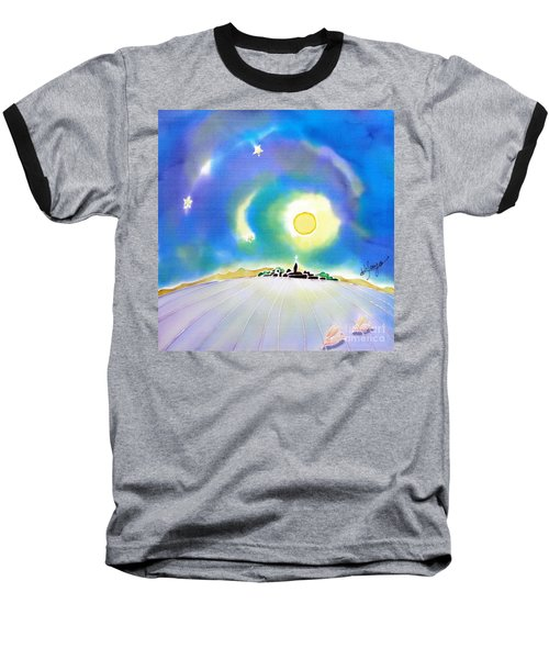 Baseball T-Shirt featuring the painting Moon Light by Hisayo Ohta