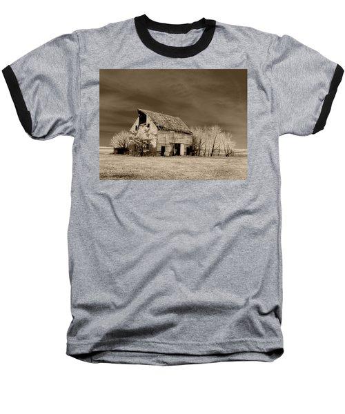 Moon Lit Sepia Baseball T-Shirt
