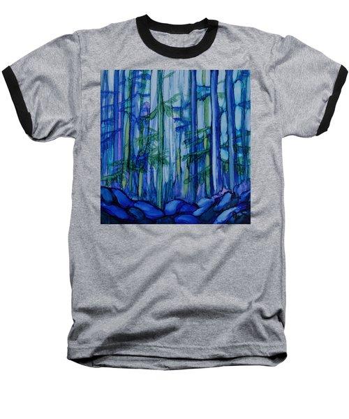 Moonlit Forest Baseball T-Shirt by Joanne Smoley