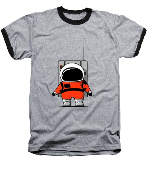 Moon Man Baseball T-Shirt