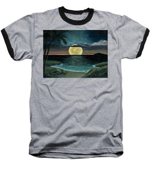 Moon Of My Dreams IIi Baseball T-Shirt by Sheri Keith