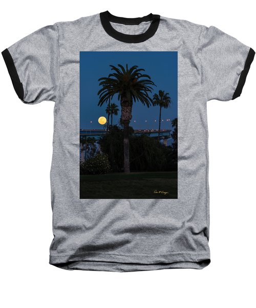 Moon On The Rise Baseball T-Shirt