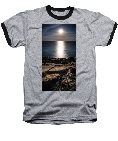 Moon Over Acadia Shores Baseball T-Shirt
