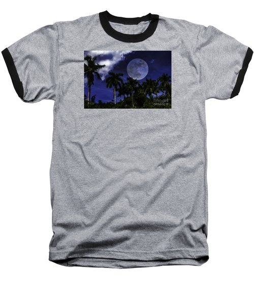 Moon Over Belize Baseball T-Shirt
