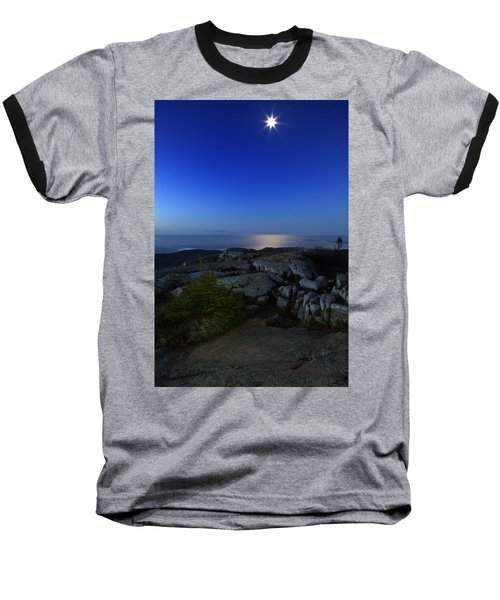 Moon Over Cadillac Baseball T-Shirt
