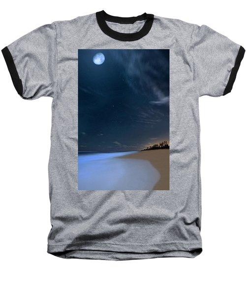 Moon Over Hobe Sound Beach Florida  Baseball T-Shirt
