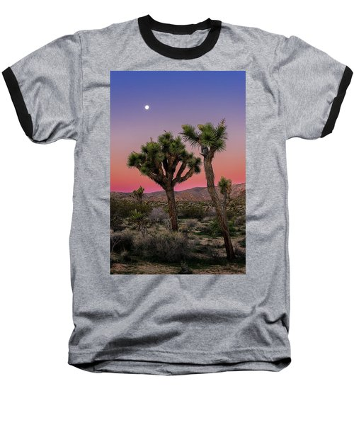 Moon Over Joshua Tree Baseball T-Shirt