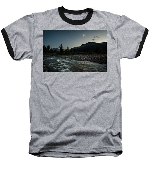 Baseball T-Shirt featuring the photograph Moon Over Montana by Margaret Pitcher