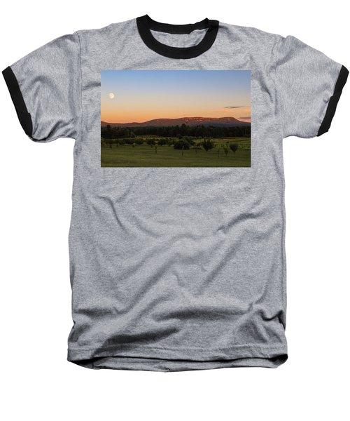 Moon Over Mount Tom Baseball T-Shirt