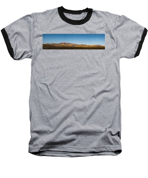 Moon Over Pintada Mountain At Sunrise In The San Juan Mountains, Baseball T-Shirt