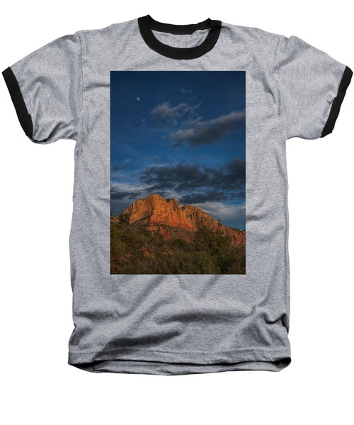Moon Over Sedona Baseball T-Shirt