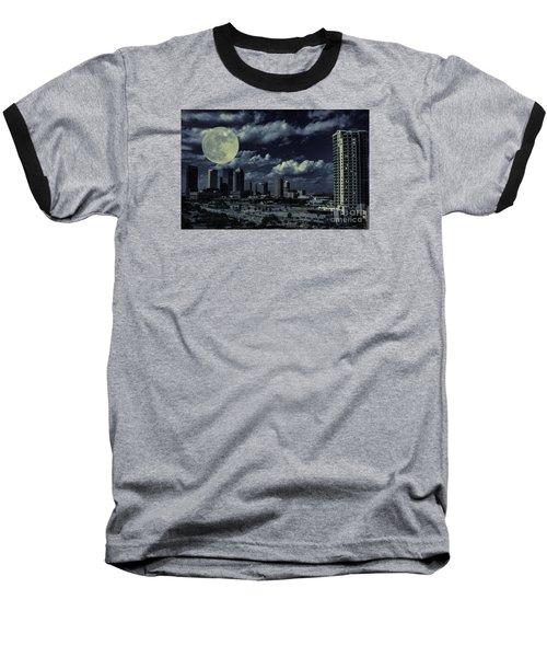 Moon Over Tampa Two Baseball T-Shirt