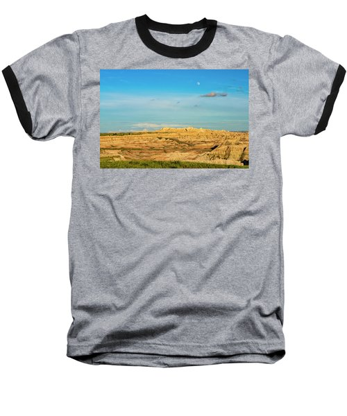 Moon Over The Badlands Baseball T-Shirt