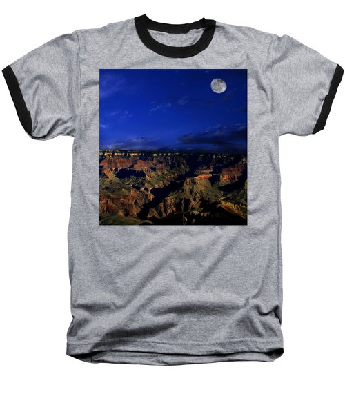 Moon Over The Canyon Baseball T-Shirt by Anthony Jones