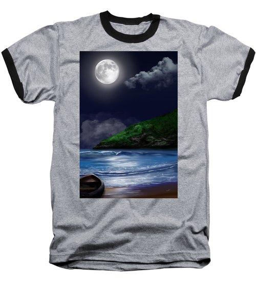 Moon Over The Cove Baseball T-Shirt