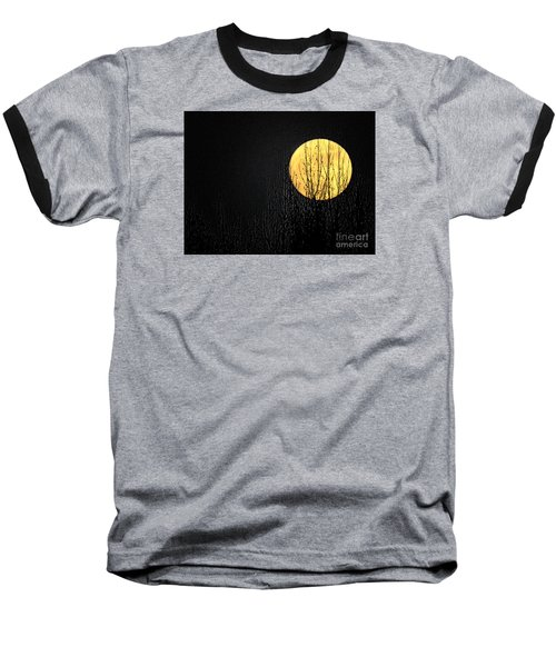 Moon Over The Trees Baseball T-Shirt
