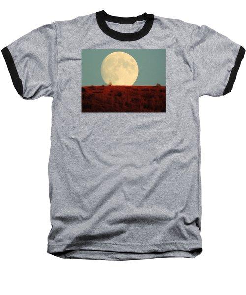 Moon Over Utah Baseball T-Shirt by Charlotte Schafer