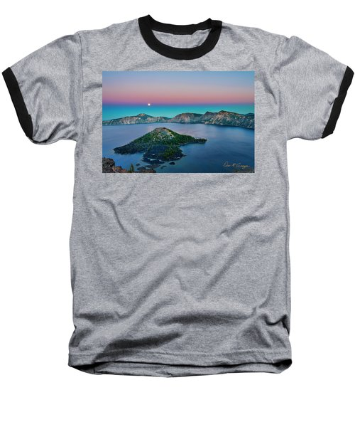Moon Over Wizard Island Baseball T-Shirt
