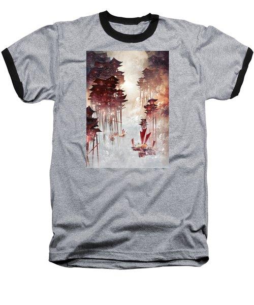 Baseball T-Shirt featuring the digital art Moon Palace by Te Hu