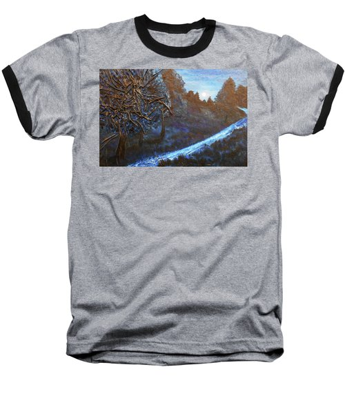 Moon Rise  Baseball T-Shirt by Angela Stout