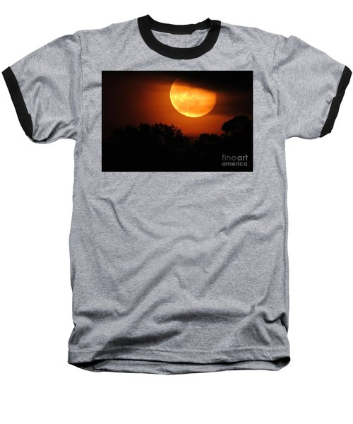 Moon Rise Baseball T-Shirt by Shelia Kempf