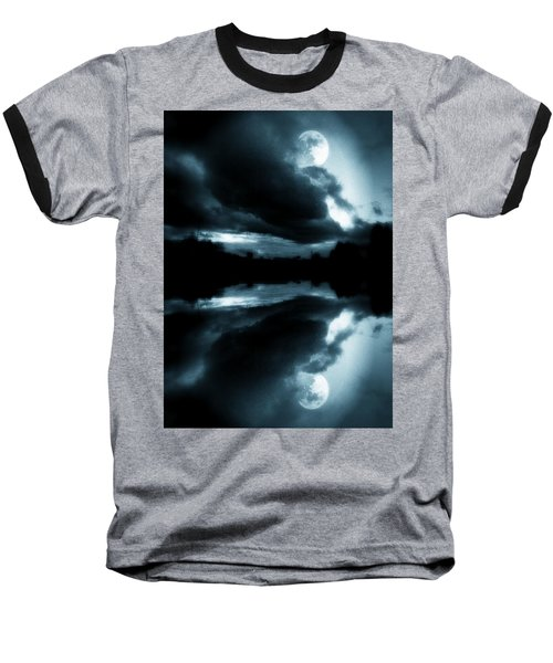 Nature Baseball T-Shirt featuring the photograph Moon Rising by Aaron Berg