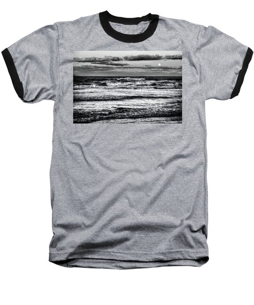 Baseball T-Shirt featuring the photograph Moon Rising  by Louis Ferreira