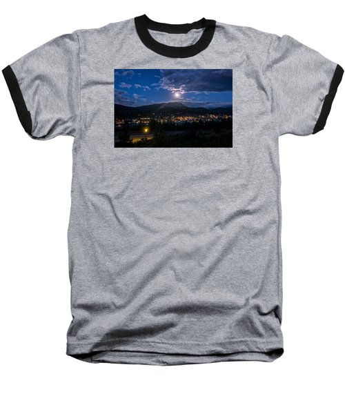 Moon Rising Over Breckenridge Baseball T-Shirt