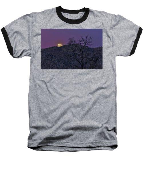 Moon Set At Sunrise Baseball T-Shirt
