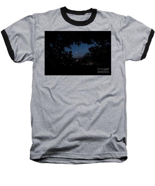 Moon Venus, Jupiter Baseball T-Shirt
