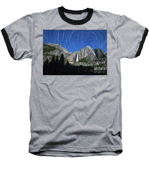 Moonbow And Startrails  Baseball T-Shirt