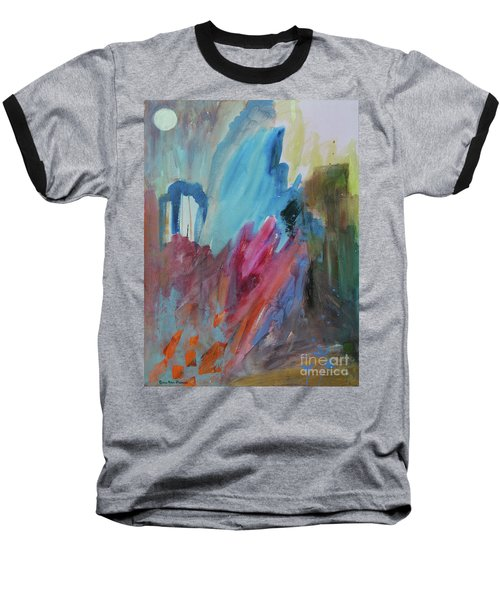 Baseball T-Shirt featuring the painting Moonchaser by Robin Maria Pedrero