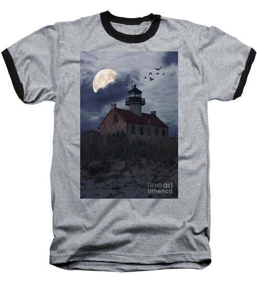 Moonlight At East Point Baseball T-Shirt