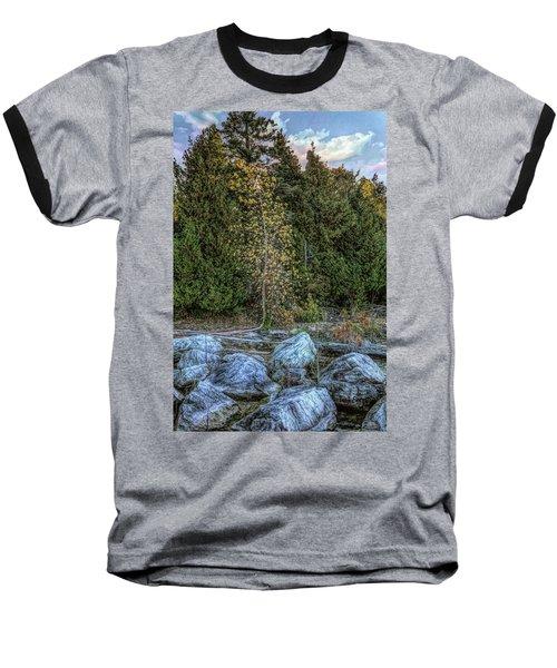 Moonlight Bay Bedrock Beach Baseball T-Shirt