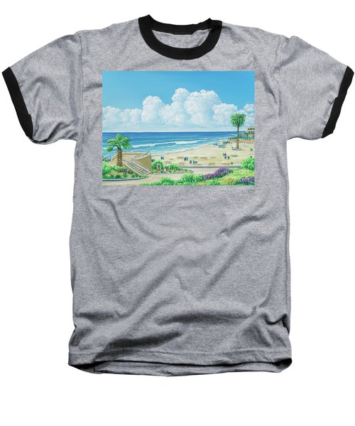 Moonlight Beach Baseball T-Shirt
