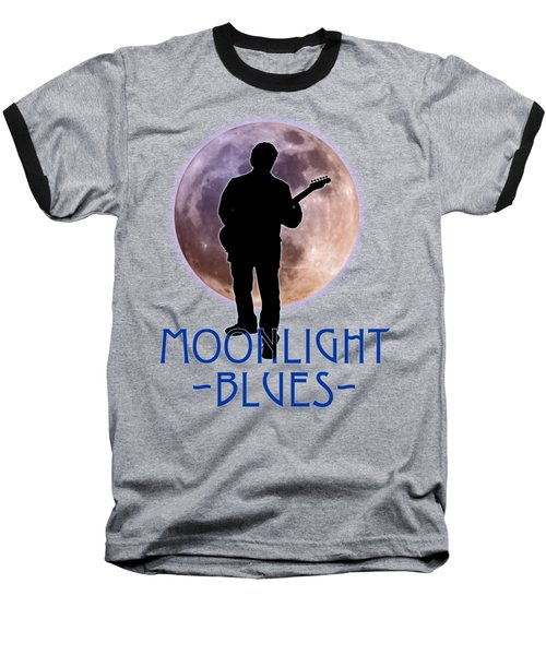 Moonlight Blues Shirt Baseball T-Shirt