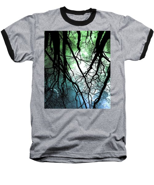 Moonlight Forest  Baseball T-Shirt