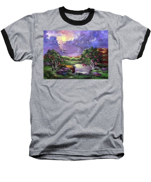 Moonlight In The Woods Baseball T-Shirt