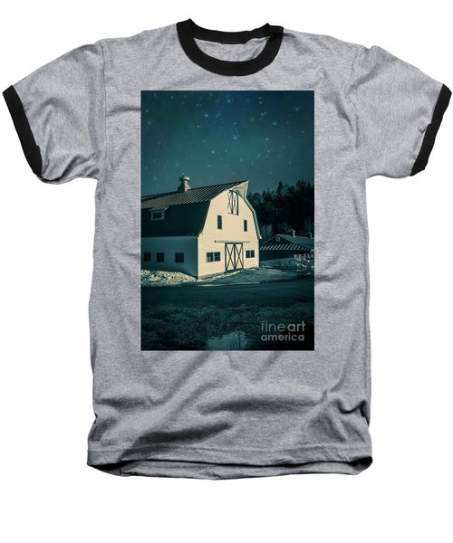 Baseball T-Shirt featuring the photograph Moonlight In Vermont by Edward Fielding