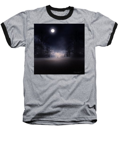 Moonlight Journey Baseball T-Shirt by Lourry Legarde