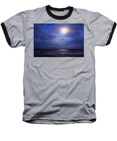 Moonlight On The Ocean At Hatteras Baseball T-Shirt